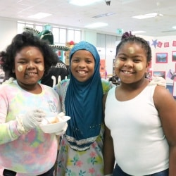 Students at Johnson celebrate International Day.