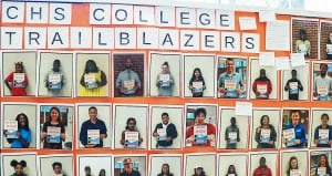 Poster of CHS first-gen college students and staff