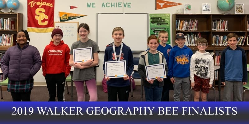 2019 Walker Geography Bee finalists