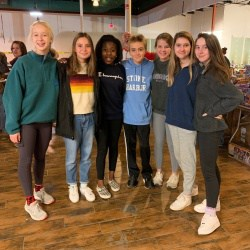 National Junior Honor Society members volunteering at the Toy Lift Cville event.