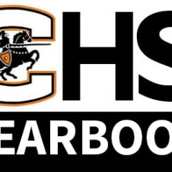 graphic with logo of CHS yearbook