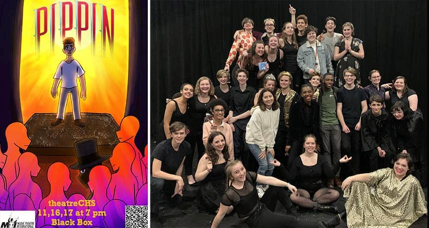 Pippin poster and cast (musical theatre ensemble class)