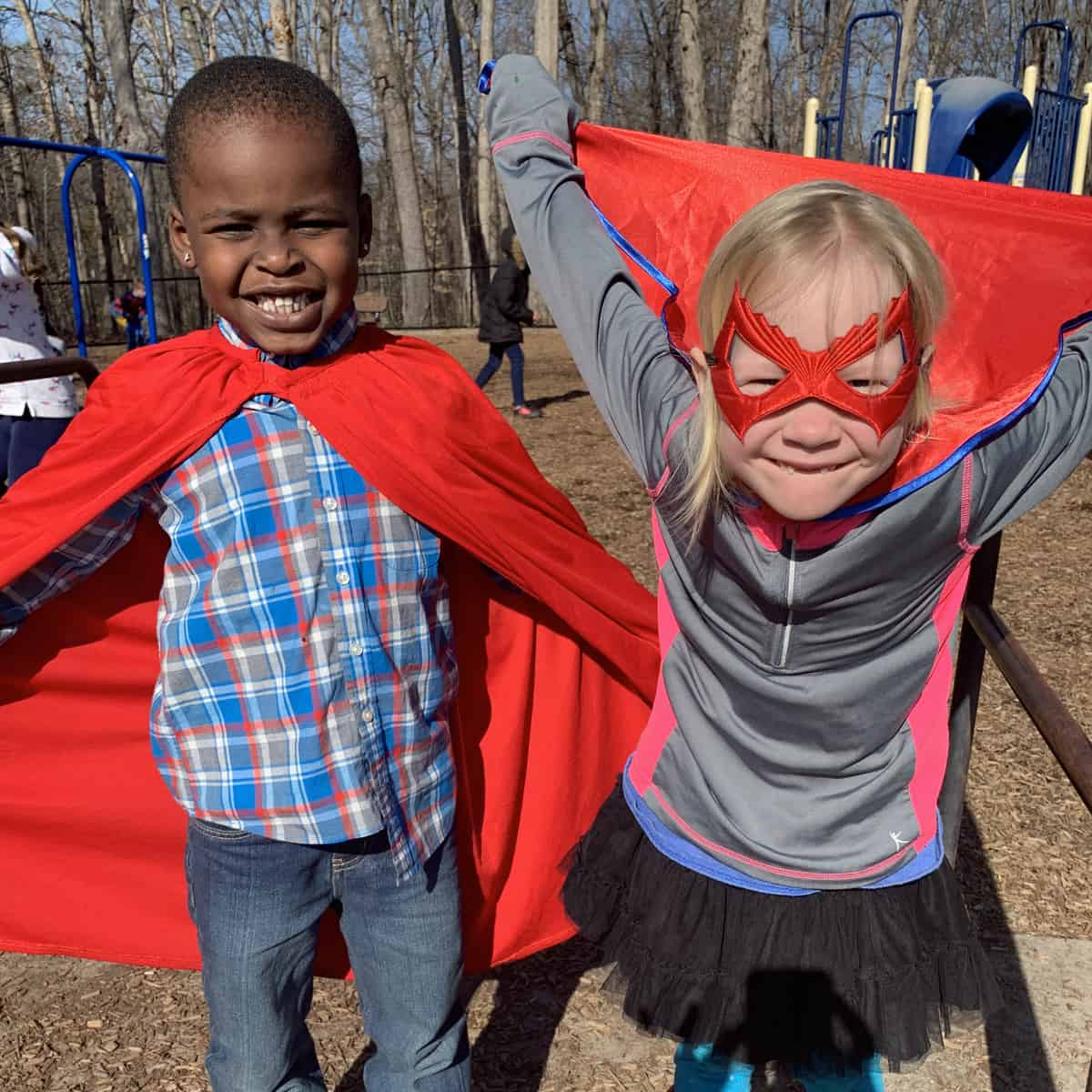 Johnson students in superhero gear for kindness week
