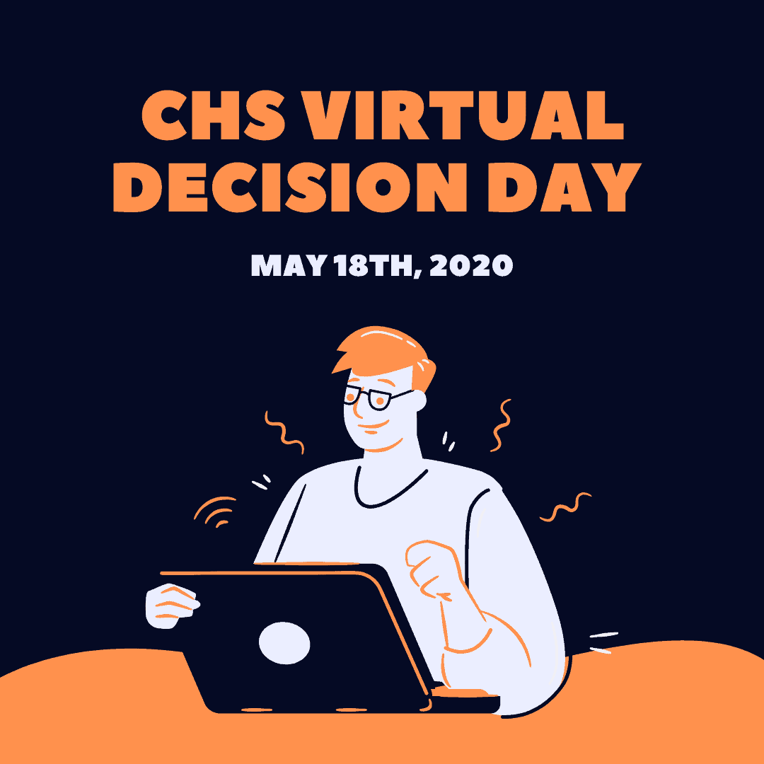 graphic: CHS Virtual Decision Day May 18 2020