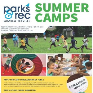 Screenshot of Cville Parks & Rec Summer Camp flyer