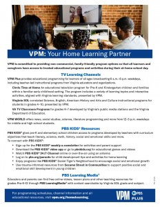 PBS Fall tv at-home learning offerings