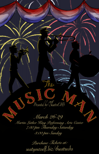The Music Man performance poster