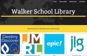 Screenshot of Walker Online Library