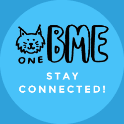 One BME logo with caption, Stay Connected