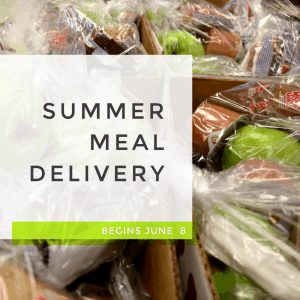 graphic for summer meal delivery