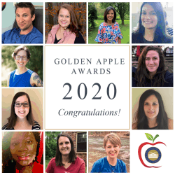collage of photos of the 2020 Golden Apple Award winners