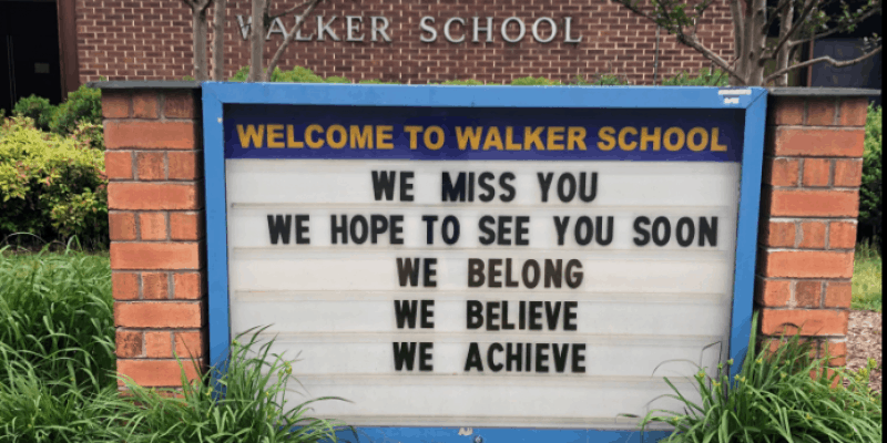 Walker end of year sign