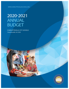 FY20-21 Budget Book Cover