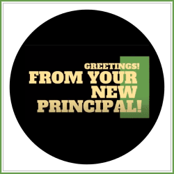 graphic of screenshot of greeting from principal