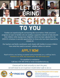 flyer for preschool program