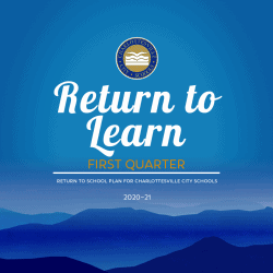 "graphic ""Return to Learn"" first quarter plan 2020-21"