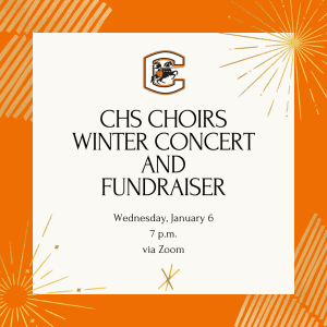 graphic for CHS Choirs winter concert and fundraiser