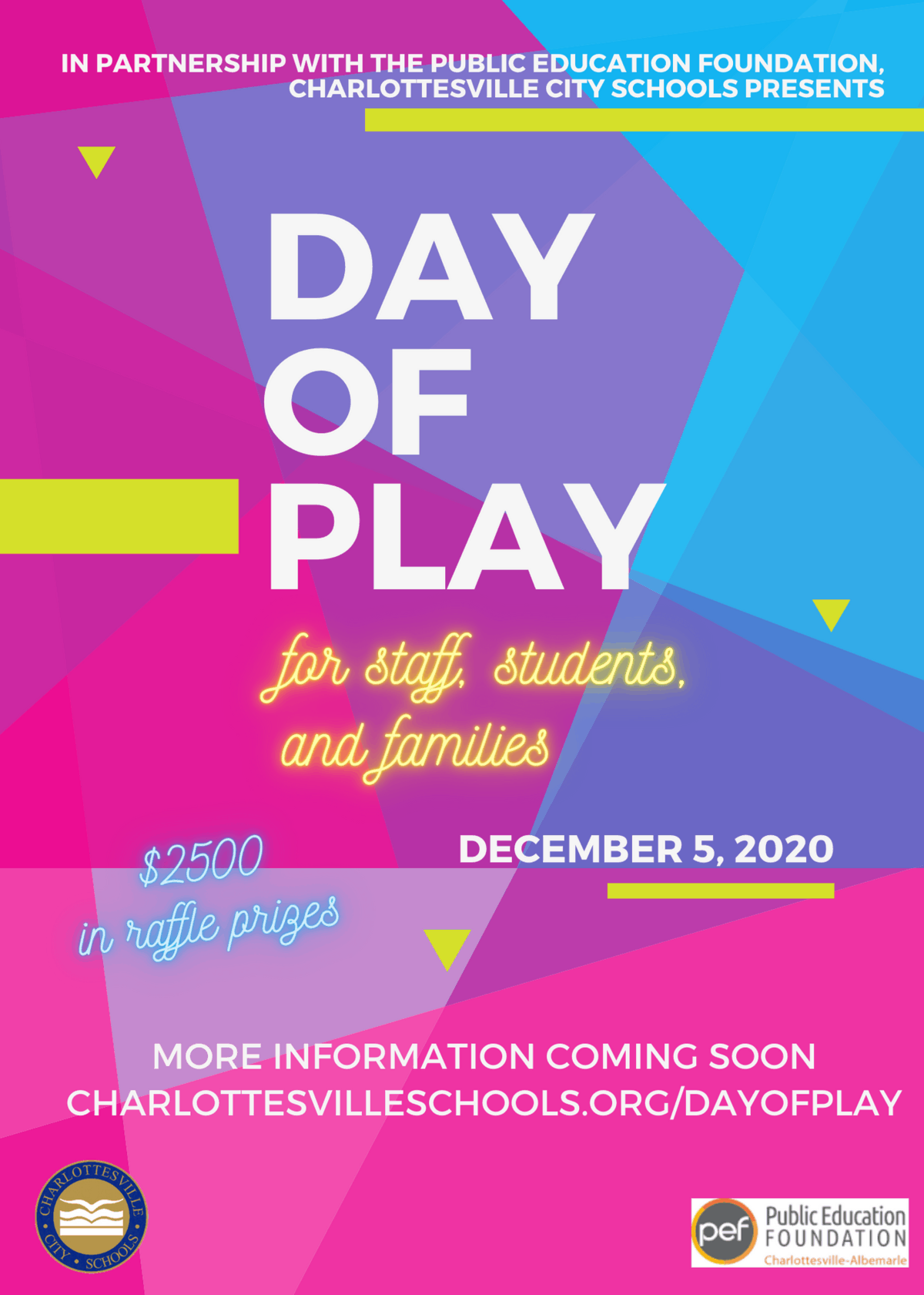 flyer for Day of Play event