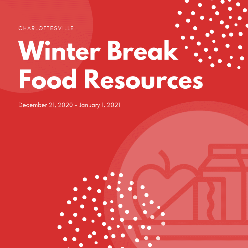 Winter Break food resources graphic