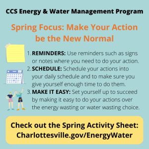 Spring Quarter Energy & Water Management graphic