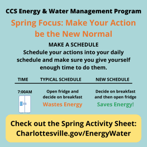 Spring quarter Energy & Water Management tip: Make a Schedule