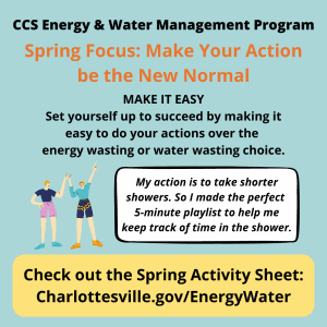 Spring quarter Energy & Water Management tip: Make it Easy