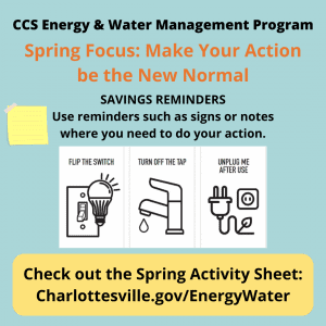 Spring quarter Energy & Water Management tip: Set Reminders