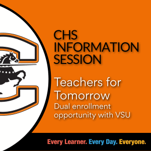 graphic for DE Teachers for Tomorrow course information session