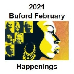 Buford Newsletter Image: Buford February Happenigns (image of woman for Black History Month)