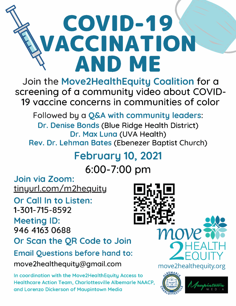 vaccination community info session flyer