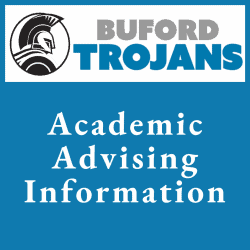 Buford academic advising info graphic