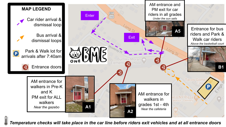 BME student arrival map