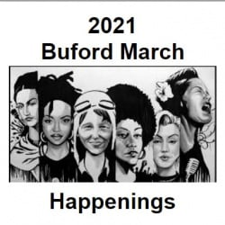 March Buford newsletter cover -- image of famous American women
