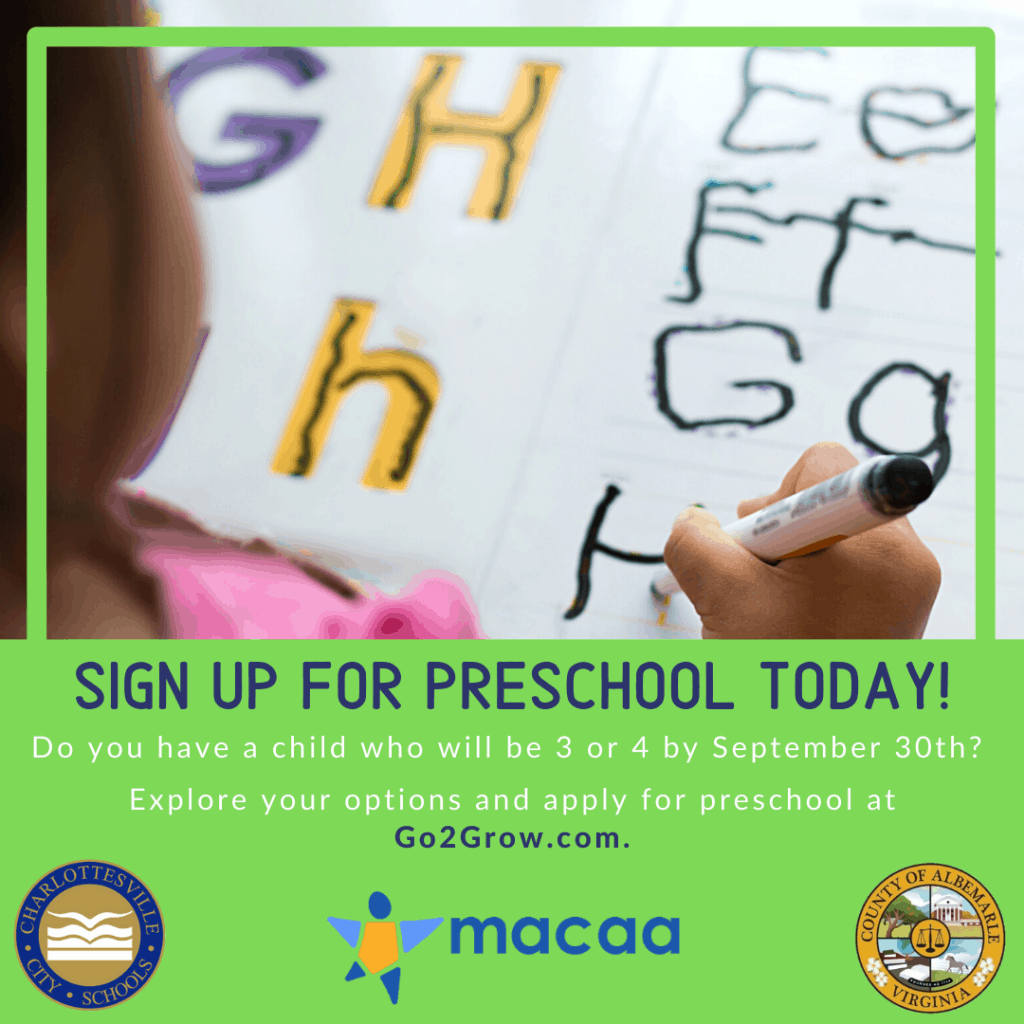 Graphic for preschool registration