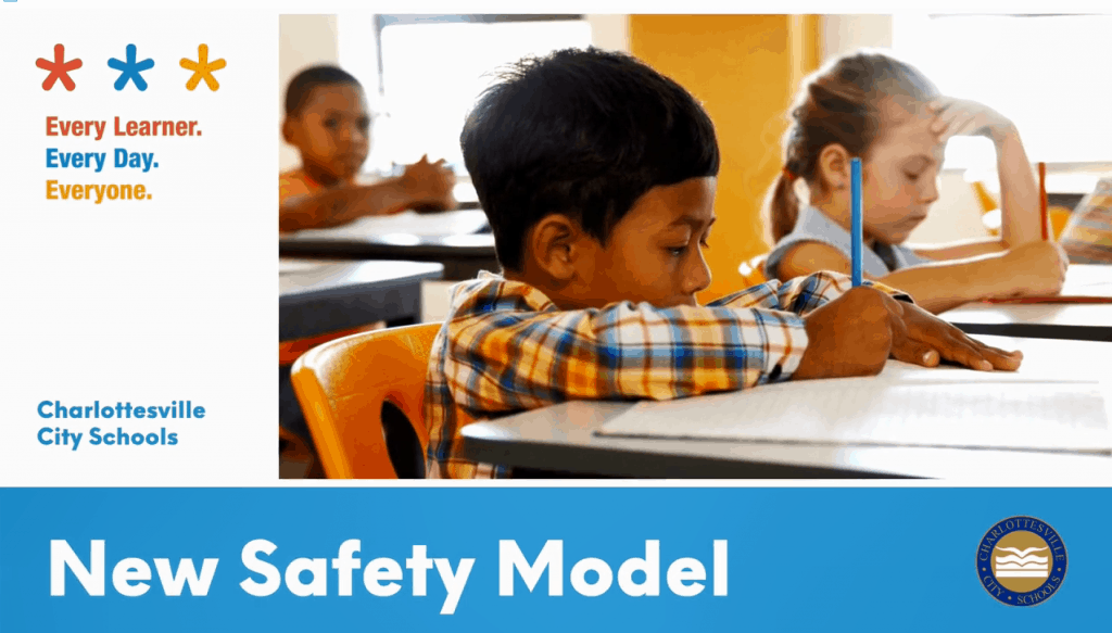 Screenshot of title page of New Safety Model video