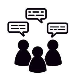 icon of people in discussion group