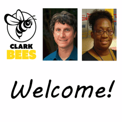 Welcome showing Clark logo, Mr. Marini, and Ms. Eddy