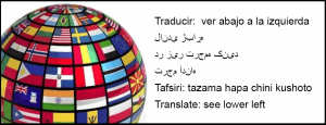 Translation -- see lower left in several languages with globe